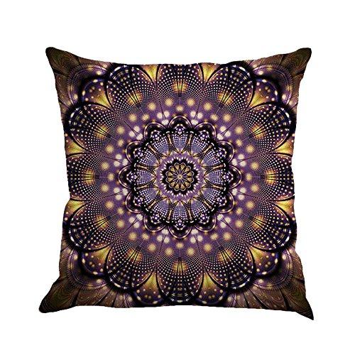 iZHH Flower Painting Linen Cushion Cover Throw Pillow Case Sofa Home Decor