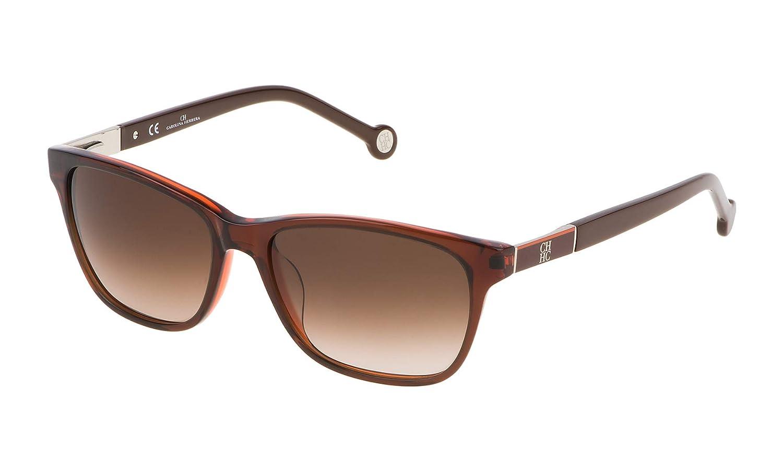 Carolina Herrera Women's SHE6435406MM Sunglasses, Brown (Marrón), 54