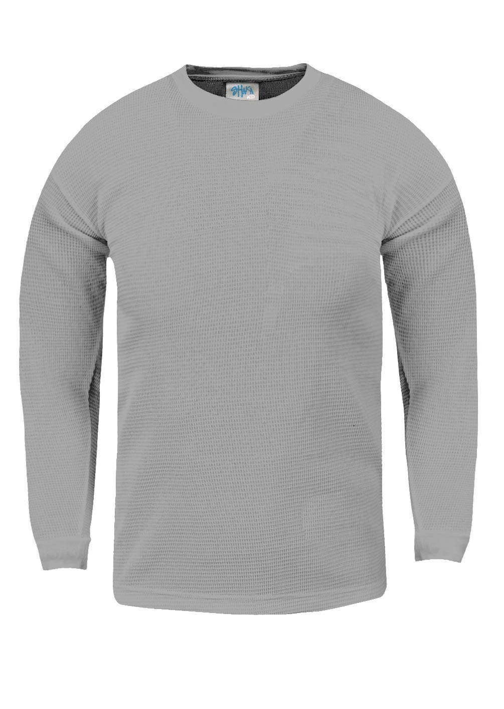 Shaka Wear KTC05_XXS Thermal Long Sleeve Crewneck Waffle Shirt H.Grey XXS by Shaka Wear