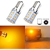 LED Bulb BAU15S PY21W S25 1156 Amber Yellow Turn Signal Lights No Anti Hyper Flash Front
