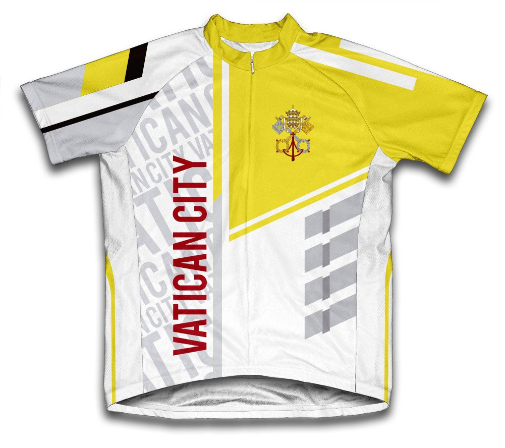ScudoPro Vatican City Radsport Trikot mit kurzer Ärmel für Frau