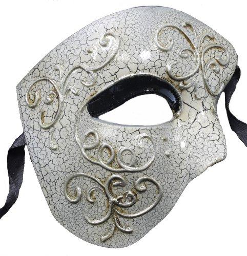 RedSkyTrader Mens Half Face Phantom Aged Finish Mask One Size Fits Most Black