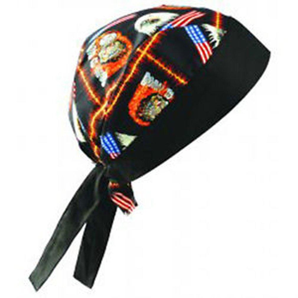 24PCK-Tie Hat Doo Rag - 100% Cotton - BIKE-One-Size