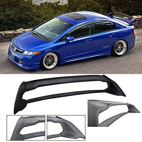 Fit 2006-2011 Honda Civic Sedan 4 door / 06-11 Acura CSX 4 door Mugen RR ABS Plastic Rear Trunk Wing Spoiler FD2 FA2 (Trunk Wing)