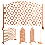 Expanding Portable Fence Wooden Screen Dog Gate Pet Safety Kid Patio NEW