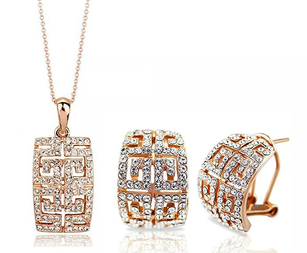 Luxury brand square silver jewelry set Chariot Trading