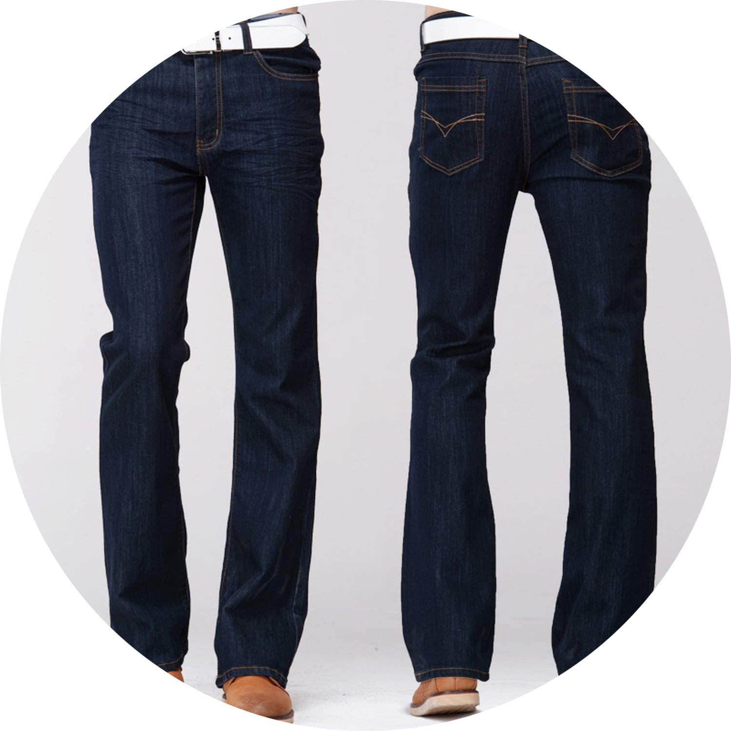 Men/'s Pants Jeans Boot Cut Leg Slightly Flared Slim Fit Stretch Fabric Trousers