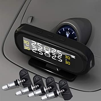 TPMS - Monitor de presión de neumáticos para coche con 4 ...