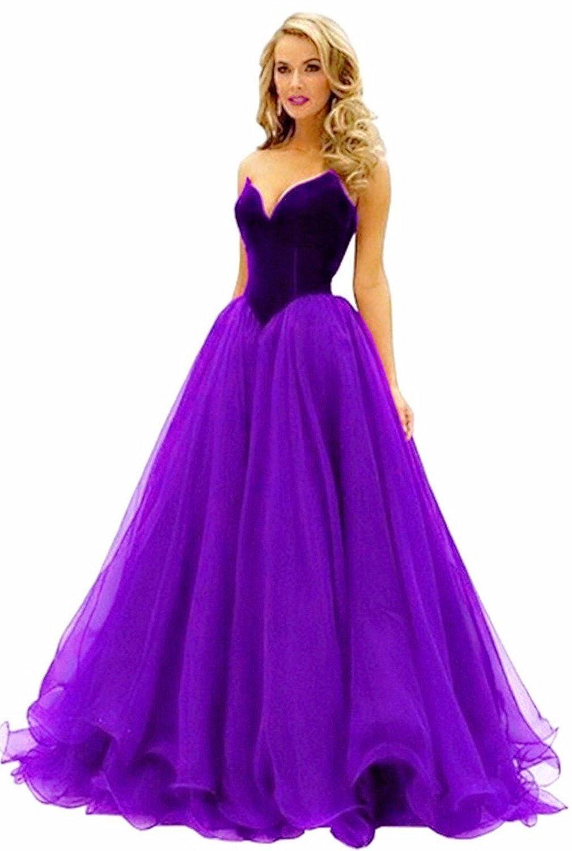 Fanciest Women's Sweetheart Long Ball Prom Dresses 2016 Formal Evening Gowns
