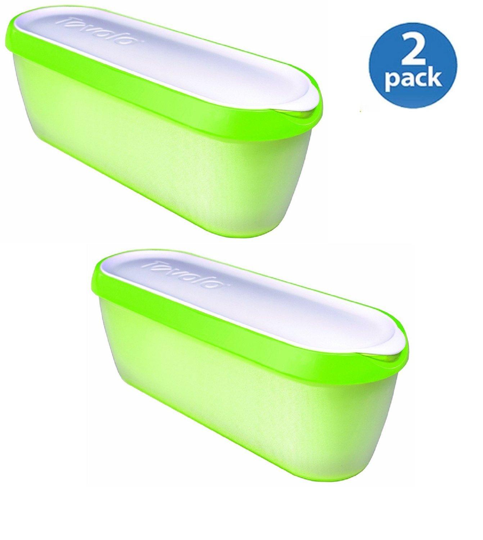 Tovolo Glide-A-Scoop Ice Cream Tub - Pistachio (2 Pack)