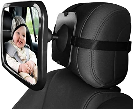 Baby Car Mirror Suction Cup on Windshield//Clip on Car Sun Visor Wide Convex Shatterproof Glass Rear View Baby Car Back Seat Mirror