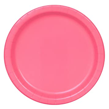 Lavender Paper Party Side//Snack Plates 8pk Approx 18cm Red, Yellow Black