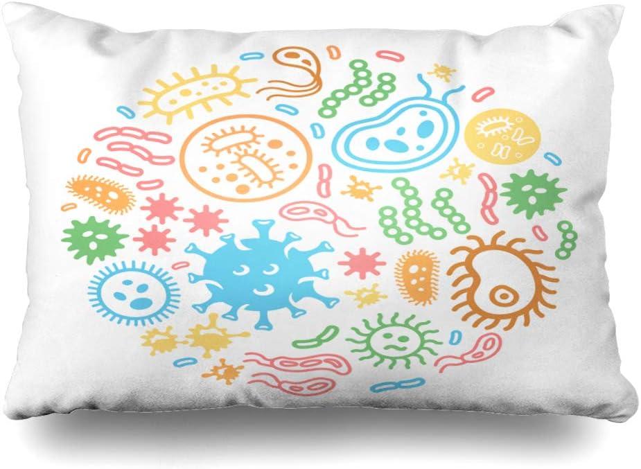 Ahawoso Throw Pillow Cover Queen 20x30