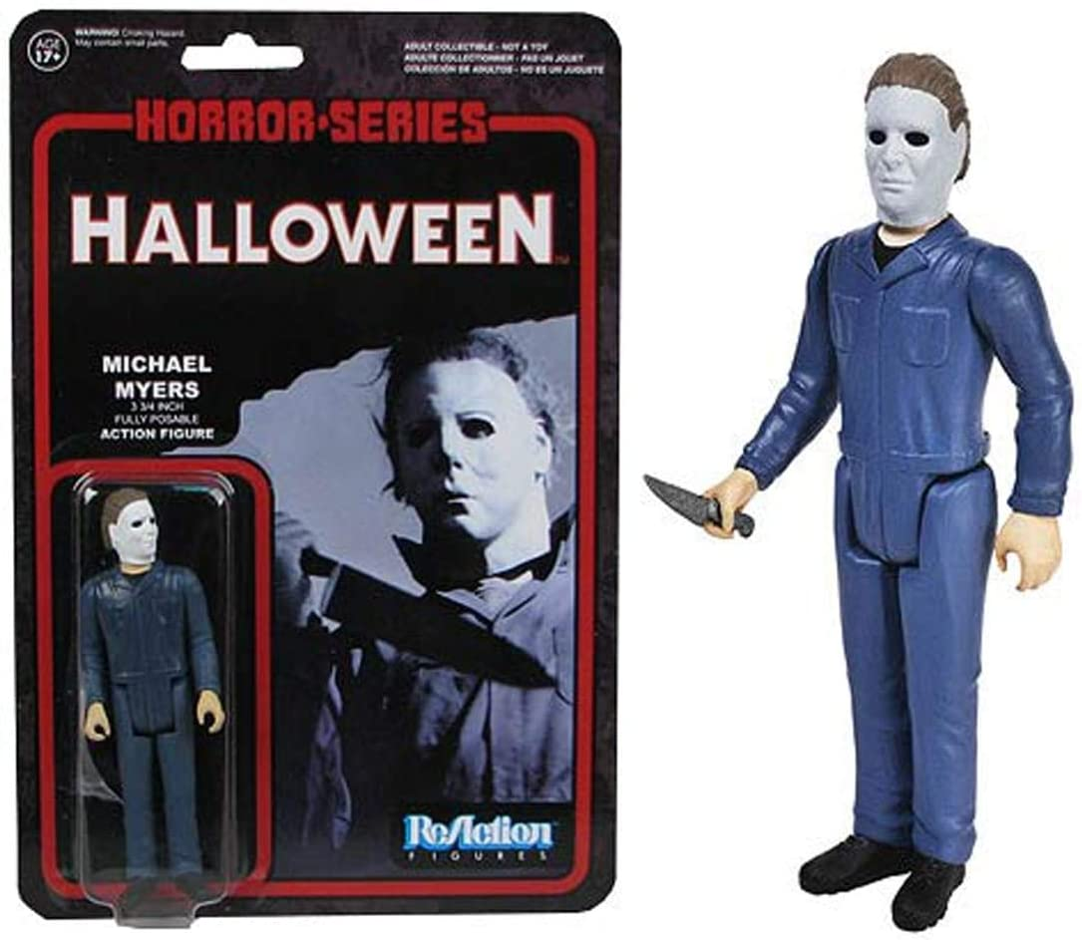 Funko Reaction Michael Myers 3 3//4 Halloween Action Figure Retro Style Horror