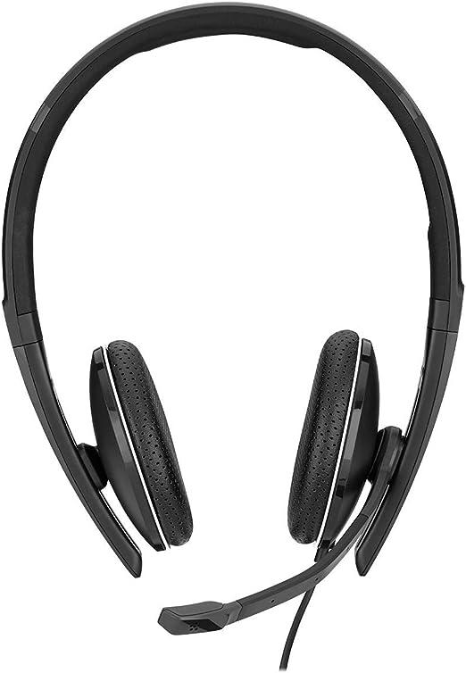 508319 Sennheiser Enterprise Solution SC 165 mit HD-Stereo-Sound - Doppelseitige Headset f/ür Gesch/äftsleute schwarz Ger/äuschunterdr/ückung Mikrofon binaural