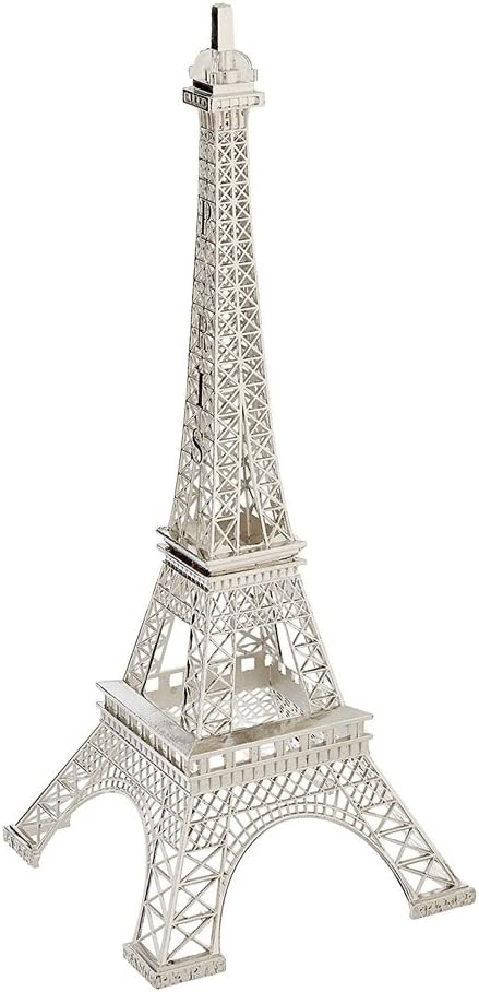 7 x 3, Silver tip top flowers and designs 7 Metal Eiffel Tower Centerpiece or Cake Topper Silver Gold Bronze Black Colors