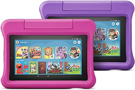 All-New Fire 7 Kids Edition Tablet 2-Pack, 16 GB, Pink/Purple Kid-Proof Case