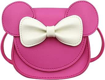 Toddler Kids Crossbody Purse Bowknot Shoulder Bag Little Girl's Cute Purse with Cartoon Ears