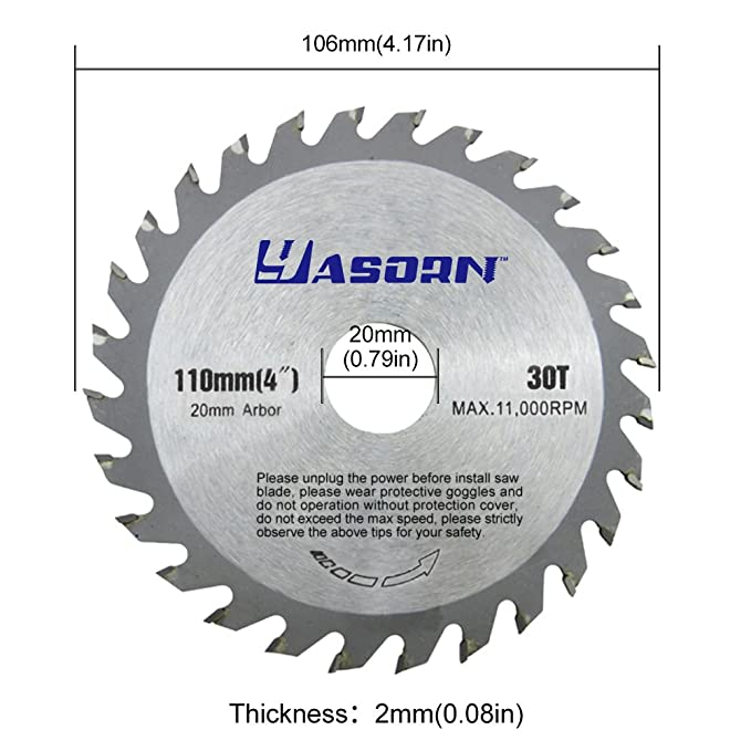 Yasorn 4 inch 28 tooth alloy wood cutting wheel circular saw blade yasorn 4 inch 28 tooth alloy wood cutting wheel circular saw blade 1pcs amazon greentooth Images
