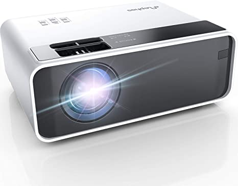 Mini proyector, ELEPHAS portatil Proyector 5500 Lúmenes Proyector de Cine en casa LED de Larga duración 1080P Compatible, Compatible con PS4, PC a través de HDMI, VGA, TF, AV y USB (Blue)
