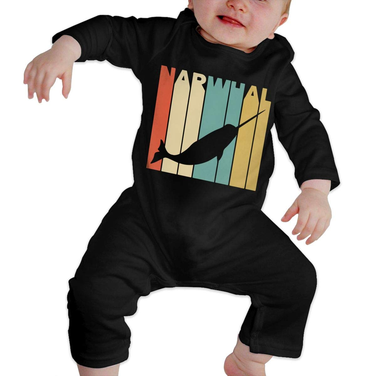 Fasenix Narwhal Newborn Baby Boy Girl Romper Jumpsuit Long Sleeve Bodysuit Overalls Outfits Clothes