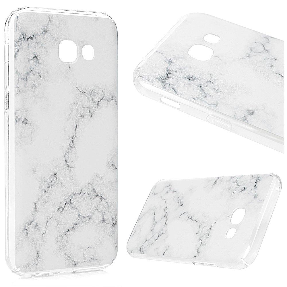 A5 2017 Coque, Lanveni PC Plastique Housse Hard Cover Case de Protection Creux Dessin Coloré Antichoc Anti-poussière pour Samsung Galaxy A5 2017 -Motif De Marbre Gris 1HA9/6TT9/AA62-FR