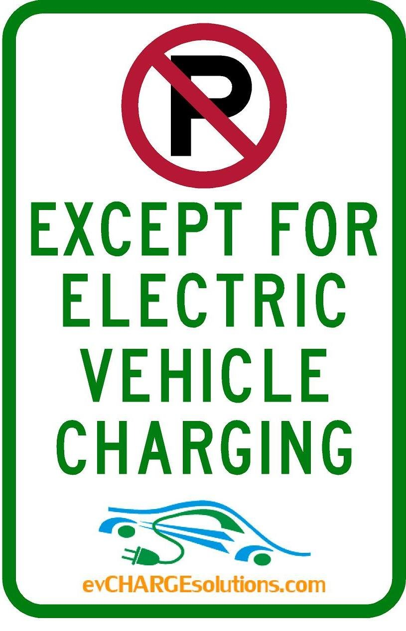 No Parking except for EV charging Sign from evCHARGEsolutions