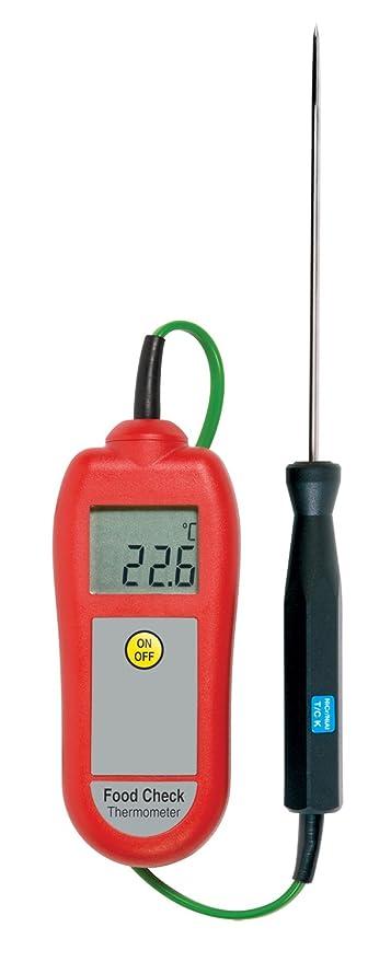 ETI alimentos Check profesional digital termómetro de cocina con sonda (rojo)