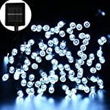 ApexPower Solar Outdoor Christmas String Lights 200led 72ft 8 Modes for Garden, Outdoor, Yard, Home, Landscape, and Holiday Decorations, St.Patricks Day (White)
