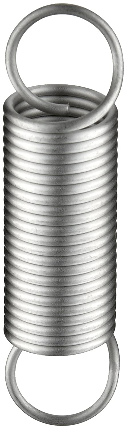 4.14 Extended Length 0.5 OD 0.049 Wire Size 2 Free Length 4.14 Extended Length E05000492000S Extension Spring 3.5 lbs//in Spring Rate 0.5 OD 8.12 lbs Load Capacity 2 Free Length Pack of 10 0.049 Wire Size Inch 302 Stainless Steel