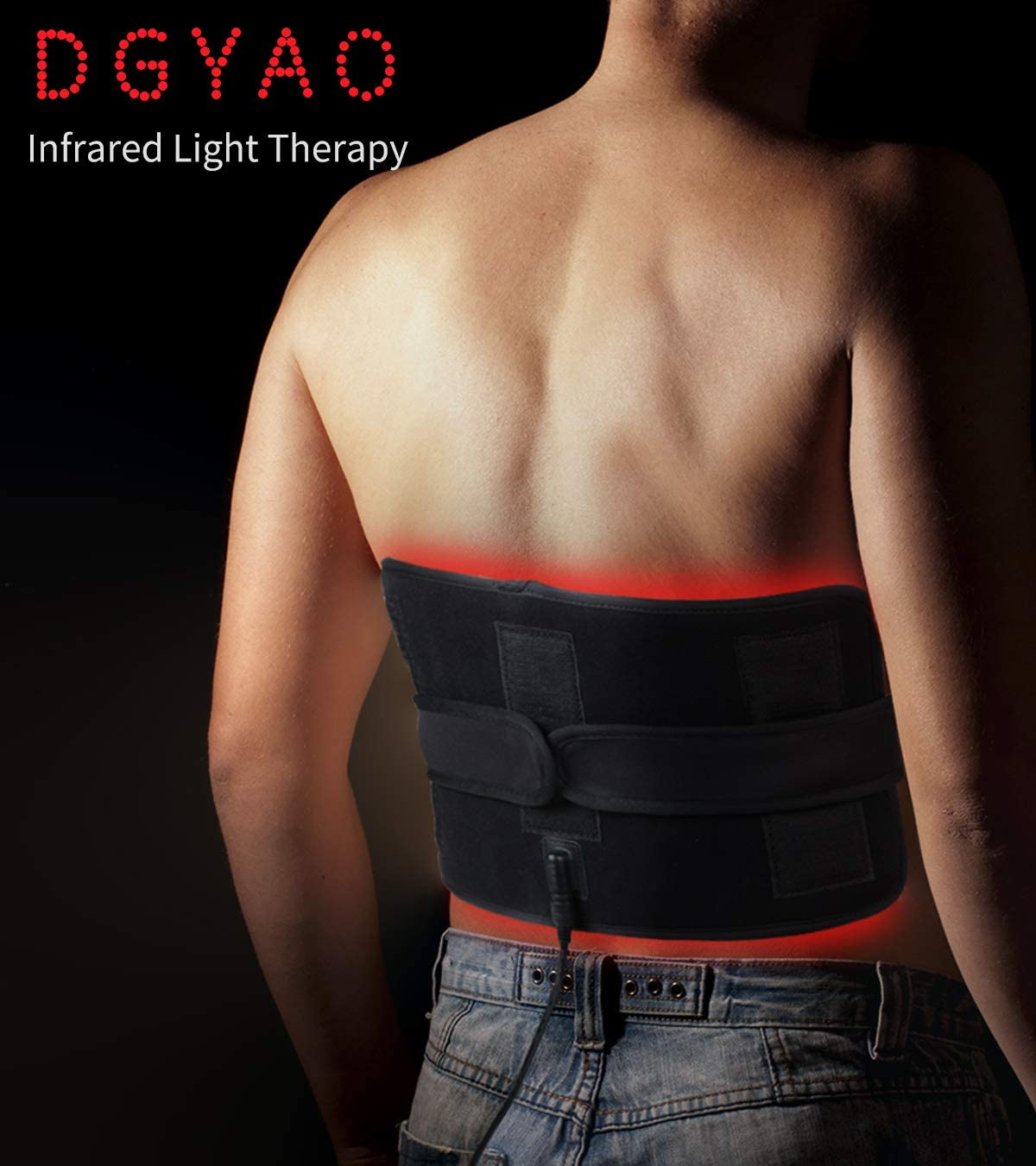 Red Light Near Infrared Therapy Led Benefits Back Pain Reliever Home Use Wearable Wrap Deep Penetrating Heals Lighting Pad Relief for Arthritis Feet Joints Muscle Knee Elbow Inflammation Nerve Damage: Health & Personal Care