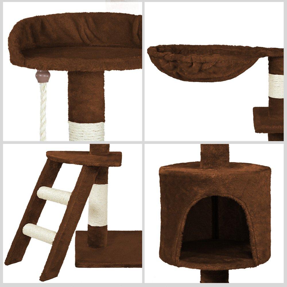 Disponibile in Diversi Colori TecTake Tiragraffi per Gatto Gioco Gatti Grigio | No. 401243