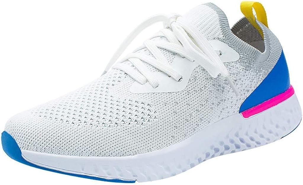 beautyjourney Zapatos Deportivos de Malla para Mujer Mosca Tejer Calcetines Zapatos Zapatillas de Cordones Zapatos Casuales Zapatillas de Correr Ligeras: Amazon.es: Ropa y accesorios