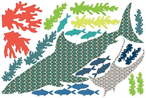 Brewster Wall Pops DWPZ1338 qBart The Shark Wall Art Deca...
