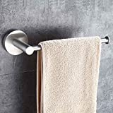 Mellewell Contemporary Towel Ring Towel Bar Holder for Bathroom and Kitchen Wall Mounted, Stainless Steel Brushed Nickel, 06001TR
