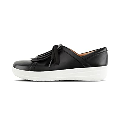 c8b62d49dc56b1 Image Unavailable. Image not available for. Color  FitFlop Womens F-Sporty  II Lace Up Fringe Sneaker Shoes