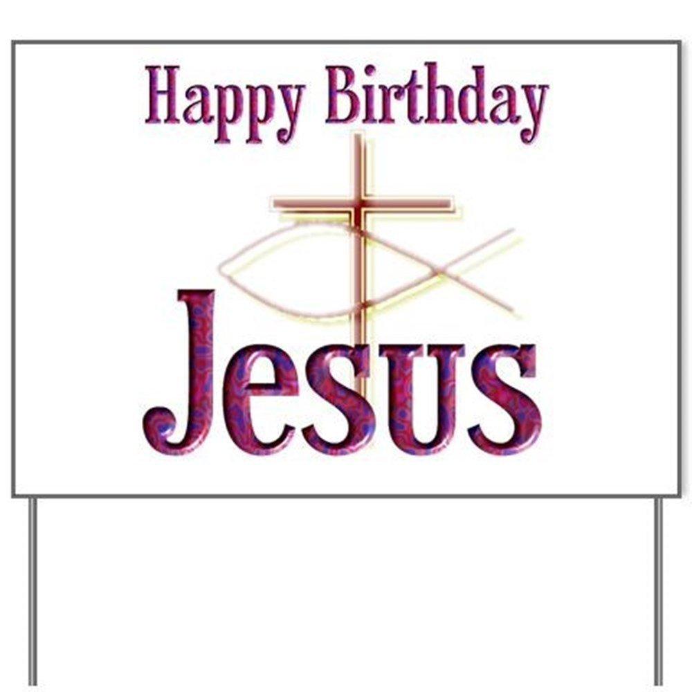 Amazon.com: Feliz cumpleaños Jesús Patio signyard signo ...