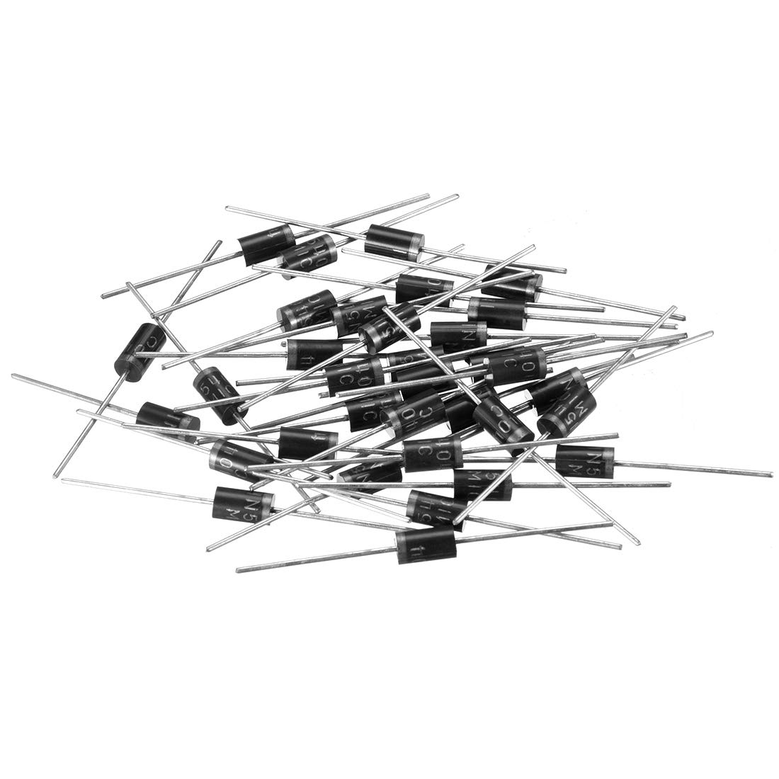uxcell 50pcs Schottky Rectifier Diode 1A 100V Axial Electronic Silicon Diodes for 1N4002