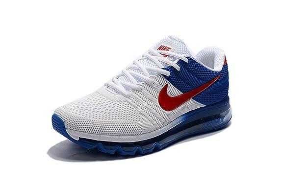 Nike Air Max 2017 Mens White Blue Red 849560 315 Running Shoe  Amazon.ca   Shoes   Handbags 60fe5a1ec