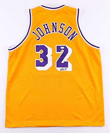 213e37660 Magic Johnson Signed Lakers Jersey (JSA COA) 5x NBA Champ 3x MVP at  Amazon s Sports Collectibles Store