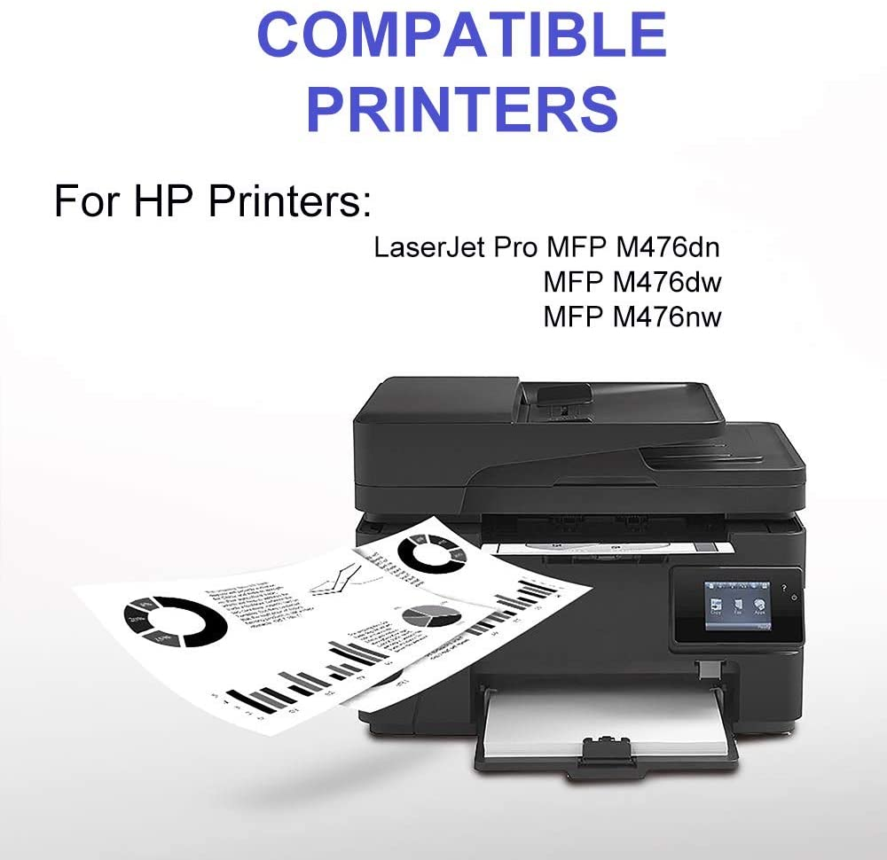 High Capacity Toner Cartridge use for HP Laserjet Pro MFP M476nw Printer 2-Pack CF380X Black Compatible 312X