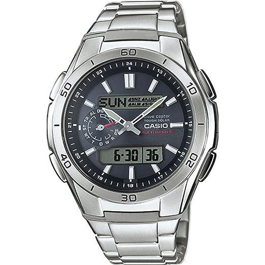 Casio Reloj Analogico-Digital para Hombre de Cuarzo con Correa en Acero Inoxidable WVA-