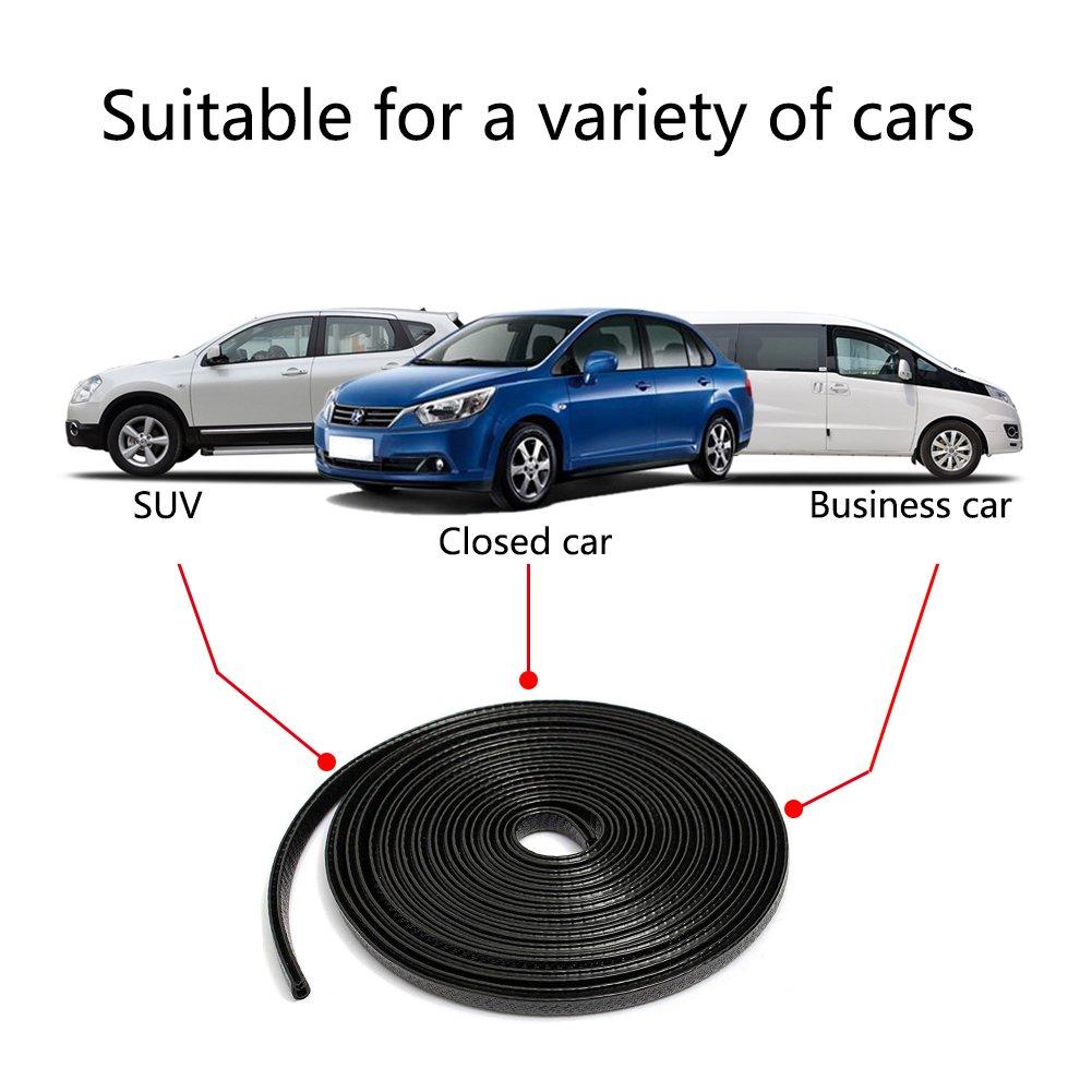 Car Door Guards Protectors Aufeel 6M Rubber Edge Trim U Shape Strip Seal Trim Rubber Seal Protector Car Protection Door Edge Fit for Most Cars