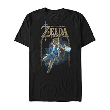 335bb76f Amazon.com: Nintendo Men's Legend of Zelda Breath of The Wild Arch T ...