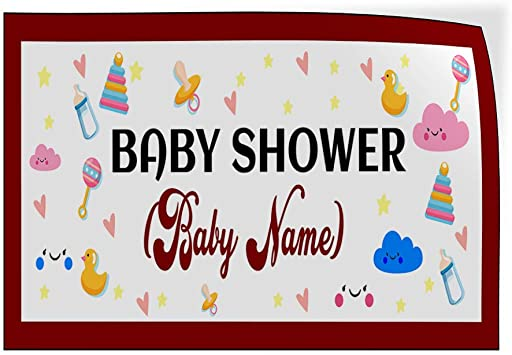 Custom Door Decals Vinyl Stickers Multiple Sizes Baby Shower Message D Lifestyle Baby Shower Celebration Outdoor Luggage /& Bumper Stickers for Cars Blue 54X36Inches Set of 5