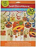 Fun-filled Fiesta Cinco de Mayo Party Foil Swirl Decoration, Mega Value Pack (2-Pack)