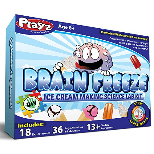Playz Brain Freeze Ice Cream Making Science Kit - 18+ Yummy...
