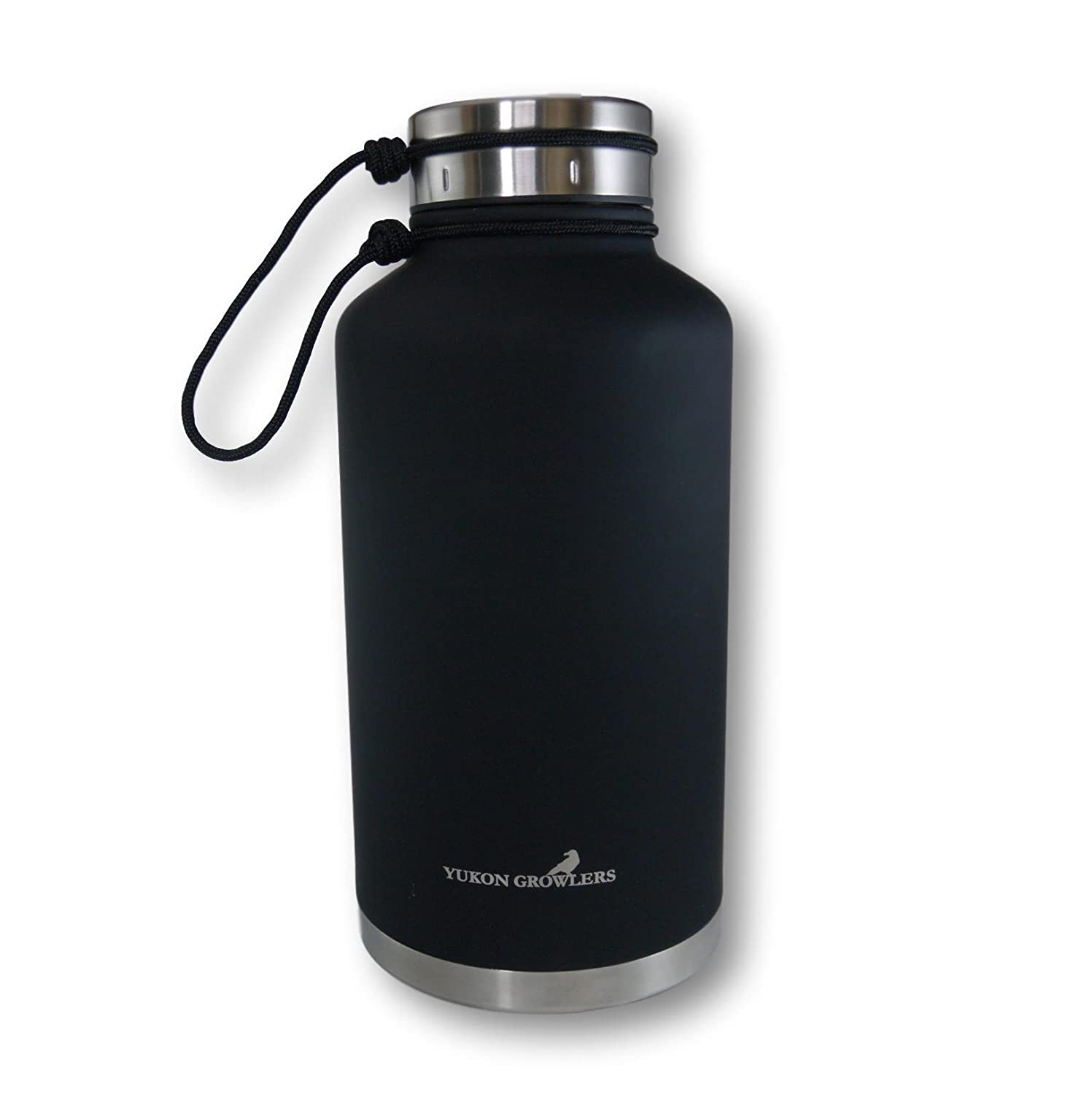 Also Keeps Coffee Hot Yukon Growlers Insulated Beer Growler Improved Lid Keep Your Beer Cold and Carbonated for 24 Hours in This Stainless Steel Vacuum Water Bottle 64 oz