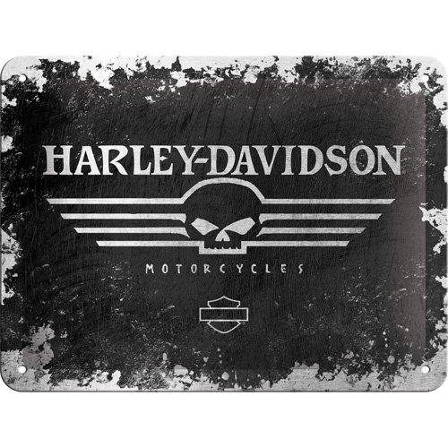 Nostalgic Arts - Harley Davidson - Skull Logo - 15cm X 20cm Tin Sign