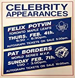 Pat Borders and Felix Potvin Autographed Vintage Sign - Toronto Blue Jays